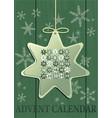 advent calendar with christmas star vector image