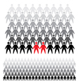 background of people icons vector image