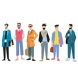 Beautiful young mens in fashion clothing vector image