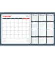 Calendar Planner for 2016 Year Set of 12 Months vector image