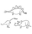 cartoon set 04 of ancient dinosaur monsters vector image