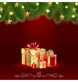 Christmas Card with a Gift vector image