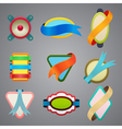 collection of different color ribbon labels vector image
