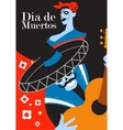 Day of the dead party Dea de los muertos card vector image