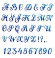 Font banner vector image