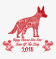 happy year of dog to chinese horoscope vector image