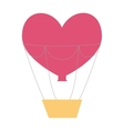 love travel with balloon air vector image
