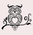 Owl ornament vector image