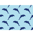 Seamless dolphins pattern vector image