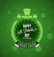 St Patricks Day Holiday Badge Design Greetings vector image