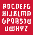 white hand-painted capital letters isolated on red vector image
