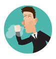 Cough icon Cough man vector image