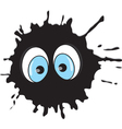 Funny blot with eyes vector image