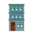 apartment building icon vector image