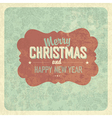 vintage greeting christmas vector image vector image
