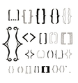 23 different hand drawn brackets Bracket icons vector image vector image