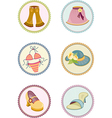 icons clothes vector image