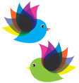 birds fly vector image