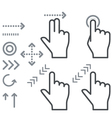 Touch screen gesture hand signs icons vector image