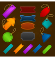 Collection of different vintage colorful design vector image