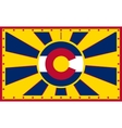 Colorado state sun rays banner vector image