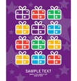 greeting card gift vector image