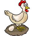 hen farm animal cartoon vector image