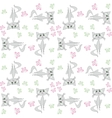 Seamless pattern sad cat and butterfly vector image