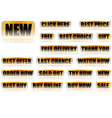 Set of 18 Buttons With General Eshop Messages vector image