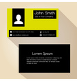 simple black and yellow block business card design vector image