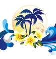 Summer tropical card vector image