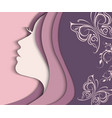 Woman s profile cut from paper vector image