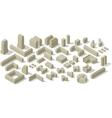 City plan set vector image