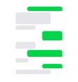 Short Message Service SMS Blank Bubbles Set vector image