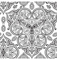 hand drawn ethnic ornamental seamless vector image vector image
