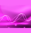 glowing shiny wave background vector image vector image