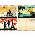 picture postcards set vector image vector image