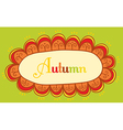 Abstract frame for your text Autumnal theme header vector image