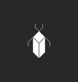 Bug black and white mockup logo security icon vector image