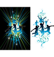 dark and light jumping people vector image vector image