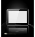 black tablet pad vector image vector image