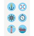 maritime icons sea vector image