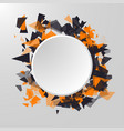 abstract circle banner advertisement panel vector image