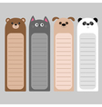 Cartoon kawaii baby bear cat dog panda Animal head vector image