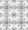 elegant black and white seamless pattern vector image