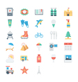 Summer and Holidays Colored Icons 3 vector image