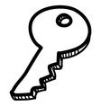 Cartoon sketch key vector image