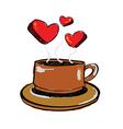 sketch drawing love coffee vector image