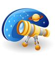 telescope cartoon vector image vector image