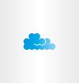 blue cloud icon logo element vector image